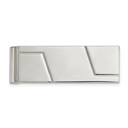 Picture of Stainless Steel Polished Grooved Money Clip