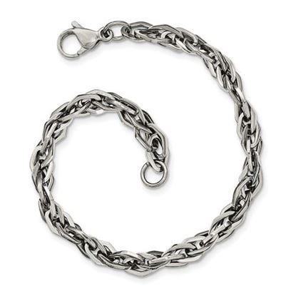 Picture of Stainless Steel Polished 9 Inch Bracelet