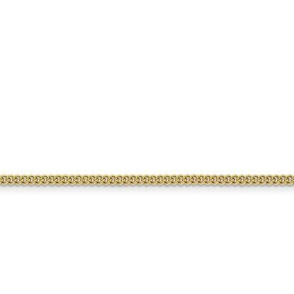 Stainless Steel IP Gold-Plated 2.25mm Round Curb Chain in various lengths