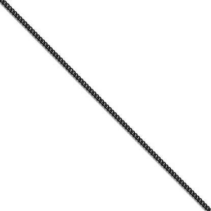 Stainless Steel Polished Black IP-Plated 2.25mm Round Curb Chain in various lengths